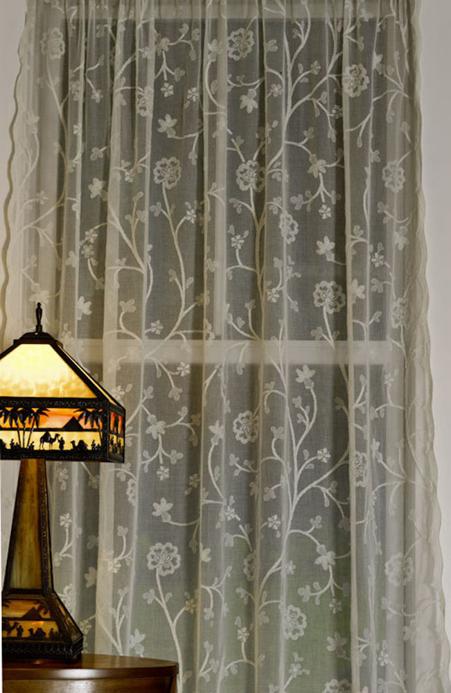 Thistle Madras Lace Curtain And Yardage Direct From London